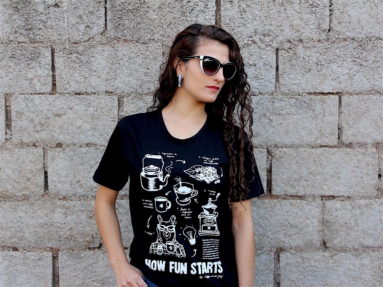 Camiseta fun preta fem