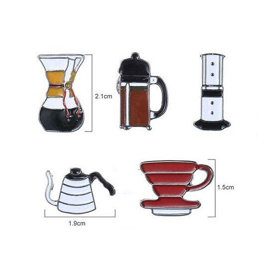 Coffee and joy   pins tamanhos
