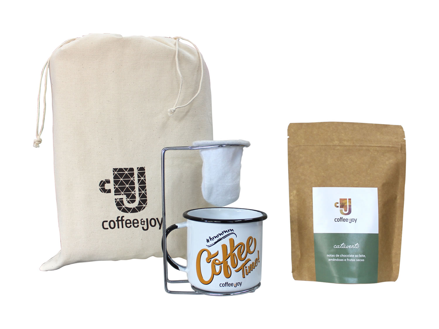 Coffeeandjoy kit cafe coador depano caneca agata