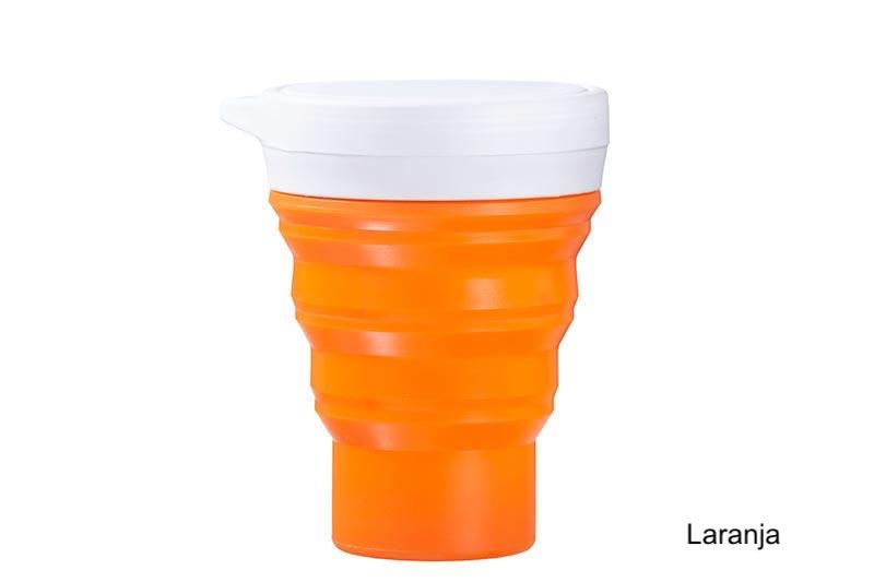 Coffeeandjoy copo silicone menos1lixo  laranja