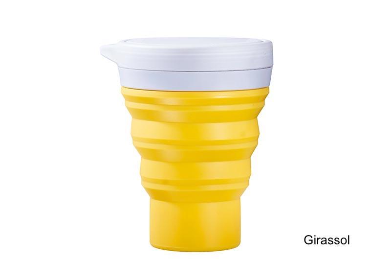 Coffeeandjoy copo silicone menos1lixo girassol