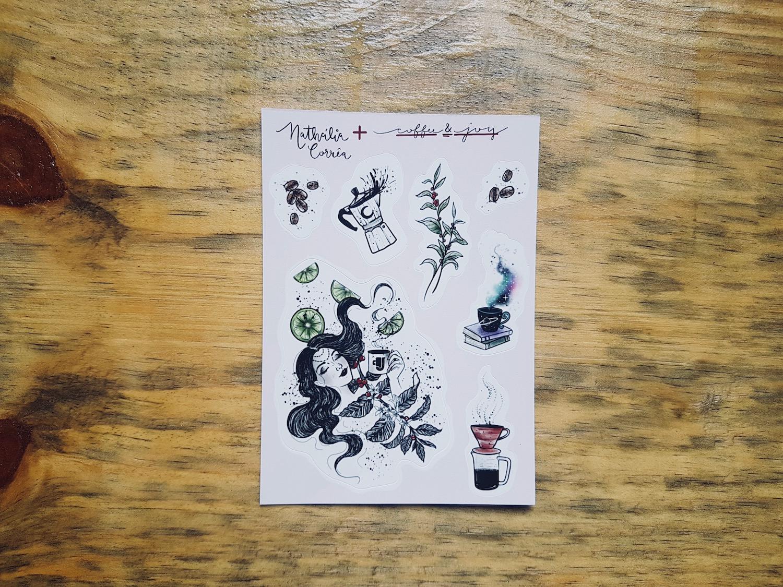 Coffeeandjoy cafe nathallia stickers
