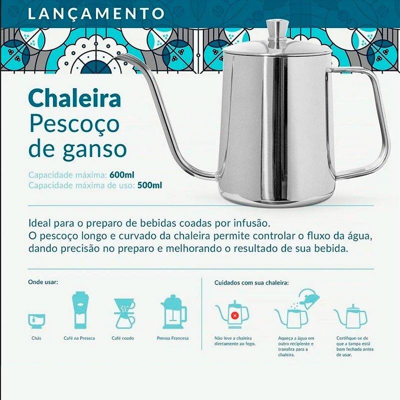 Coffeeandjoy chaleira presca bico ganso informa  es