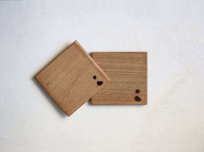 Coffeeandjoy porta caneca de madeira reutilizada