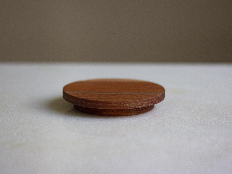 Coffeeandjoy tampa de madeira