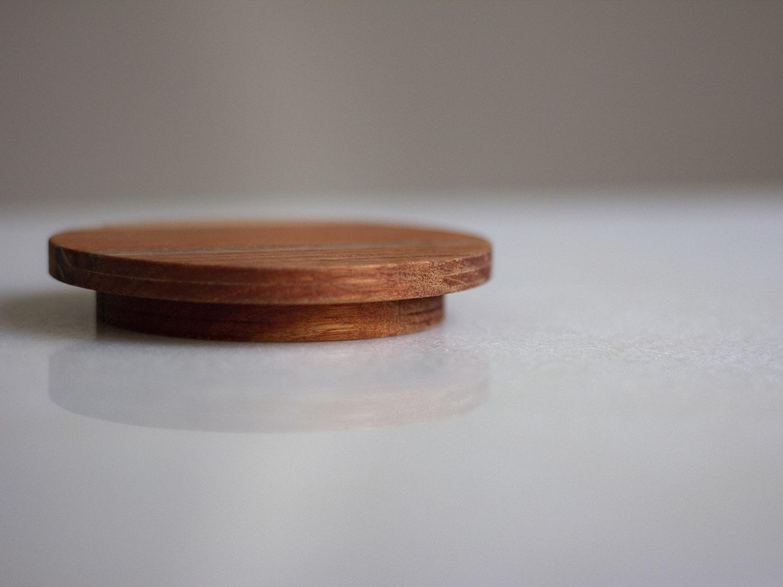 Coffeeandjoy tampa de madeira para jarra