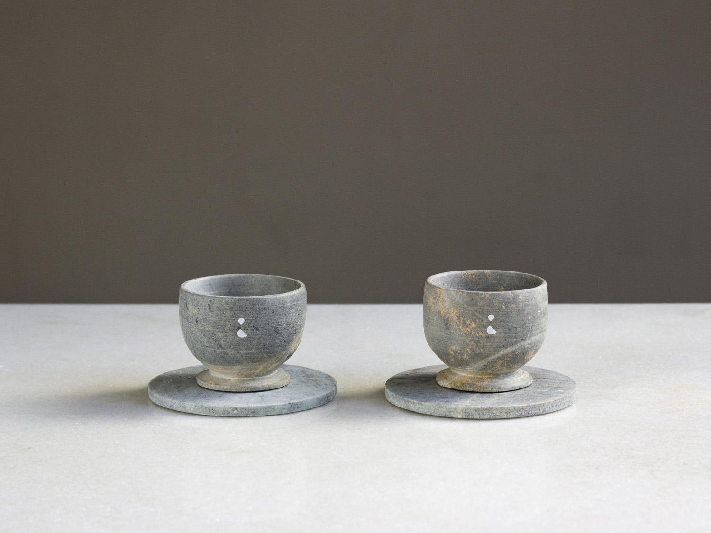 Coffeeandjoy xicara feita de pedra sabao